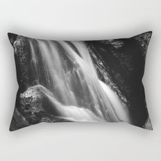 Black and white waterfall in Hell Gorge, Slovenia Rectangular Pillow
