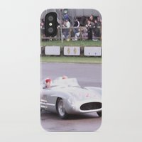 mercedes iPhone & iPod Cases featuring Mercedes Benz Silberpfeil with Stirling Moss by Premium