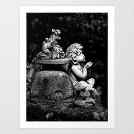 The cherub and the mice Art Print