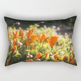California poppy | Noriko Aizawa Buckles Rectangular Pillow