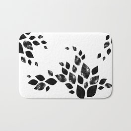 Charred Leaves Bath Mat