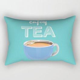 Enjoy TEA vintage Poster Rectangular Pillow