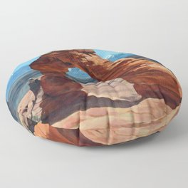 delicate arch Floor Pillow