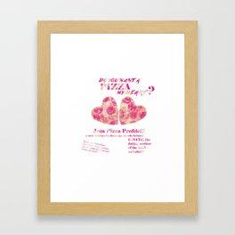 Pizza Profile!  Framed Art Print