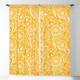 Saffron Coneflowers Blackout Curtain
