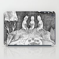 knitting iPad Cases featuring Knitting Cats by Ulrika Kestere