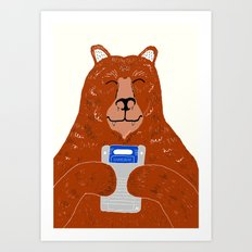 Game Bear Art Print