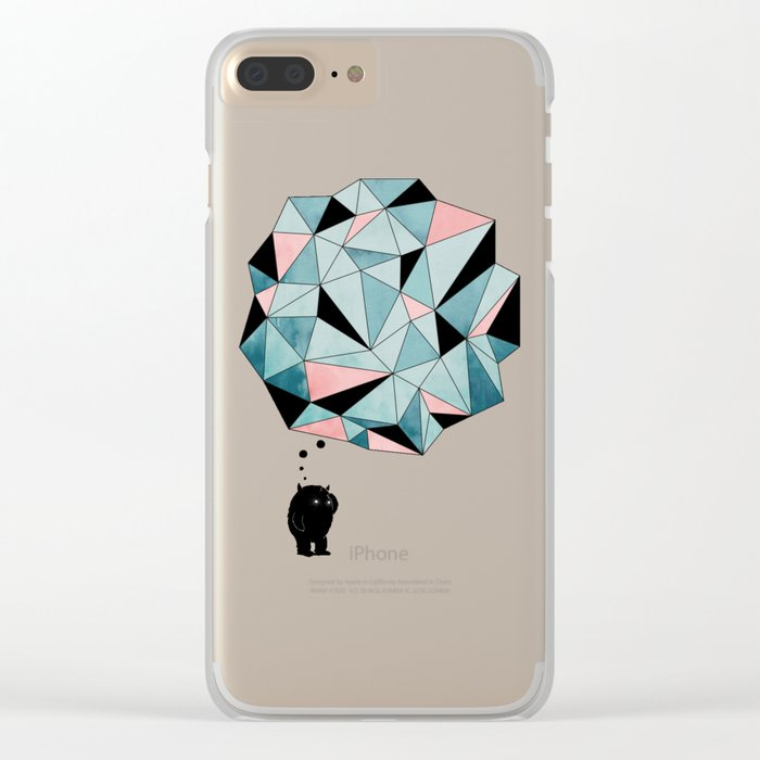 The Pondering Clear iPhone Case