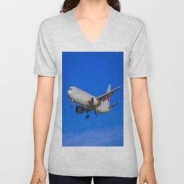 Air Canada Boeing 767 Art Unisex V-Neck