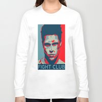 tyler spangler Long Sleeve T-shirts featuring Tyler Durden by Jason Vaughan