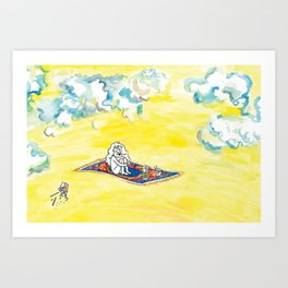 Take Me Away, with Takeout! Art Print