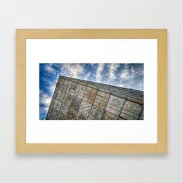 Sinking Building Sky of Dread Framed Art Print