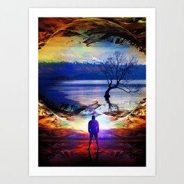 Trough a time portal Art Print