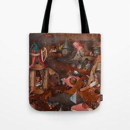 """Hieronymus Bosch """"The Last Judgment"""" triptych (Bruges) cental panel Tote Bag"""