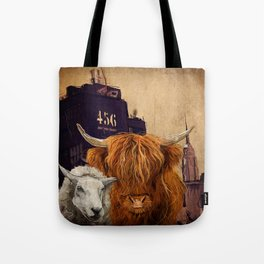 Sheep Cow 123 Tote Bag
