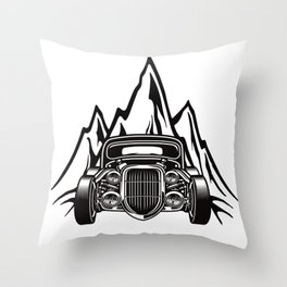 Hotrod with Bergen Custom Car Ami Car Car Throw Pillow