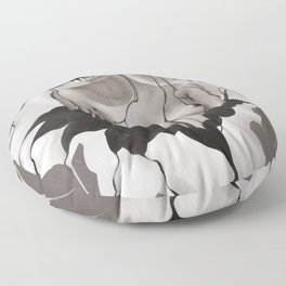 Death By Chocolate Monochrome Floor Pillow