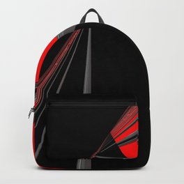 Bold Red Black Abstract Pattern Backpack