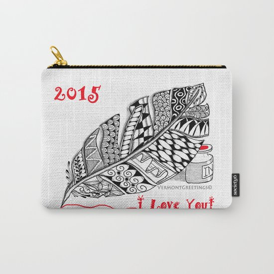 I love you 2015 Zentangle Illustration Carry-All Pouch