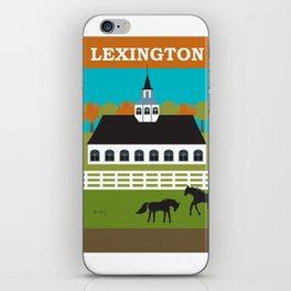 Lexington, Kentucky - Skyline Illustration by Loose Petals iPhone Skin