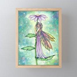 Starry Garden Flower Fairy Illustration by Molly Harrison Framed Mini Art Print