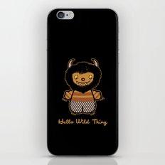 Hello Wild Thing iPhone & iPod Skin
