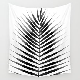 Palm Leaf Watercolor | Black and White Wall Tapestry