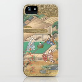 The Tale of the Bamboo Cutter - Discovery of Princess Kaguya, 17th Century iPhone Case