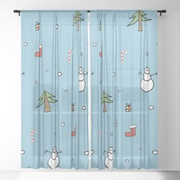 Christmas spirit Sheer Curtain