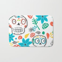 Summer sugar skulls Bath Mat
