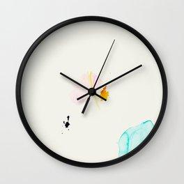 Minimum - minimal artwork by Jen Sievers Wall Clock