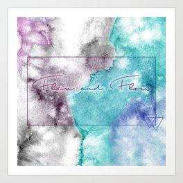 Flex and Flow - Tie Dyed, Water Colour, Motivation Art Print