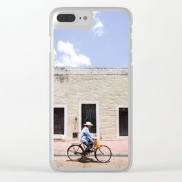 Riding a Bike in Merida, Mexico Clear iPhone Case