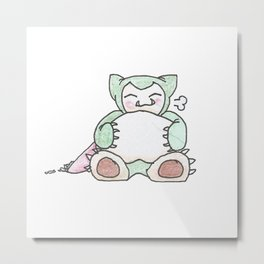 Hungry Snorlax (by Ian) Metal Print