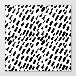 Dashing Darling - Black and White Canvas Print