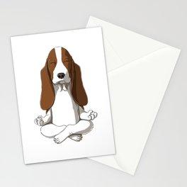 Basset Hound Meditated Stationery Cards