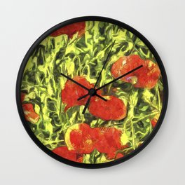 Poppys Van Goth Art Wall Clock