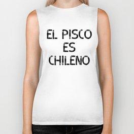 El Pisco es Chileno Biker Tank