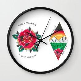 Rose Duo Wall Clock