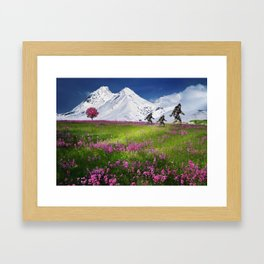 Bigfoot Mountain Meadow Framed Art Print