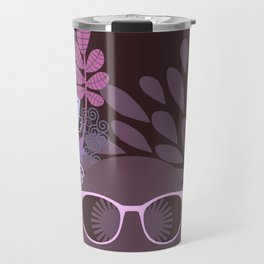 Afro Diva Lavender Purple-Taupe Travel Mug