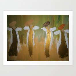 "Angels, ""Praising Him"" Art Print"