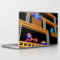donkey kong Laptop & iPad Skins featuring Inside Donkey Kong stage 2 by Metin Seven