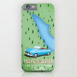 Hayeswater Lake District England map iPhone Case