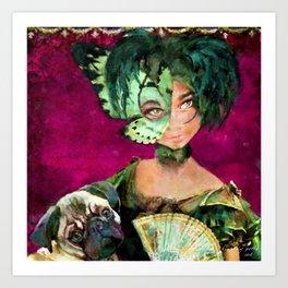 The Mademoiselle 'Tite Poulette & Clotile attend Bal de Cordon Bleu Art Print