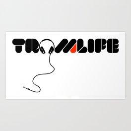 TROMLIFE Headphones Art Print