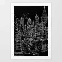 London! Dark T-shirt version Art Print