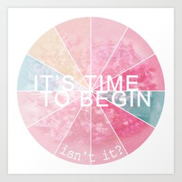 It's Time Art Print