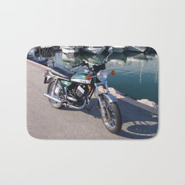 Classic Two Stroke Motorcycle Bath Mat