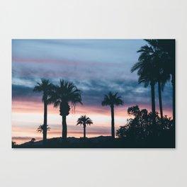 Palm Tree Sky Sunset Canvas Print